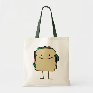 Happy Foods Smiling Sandwich Tote Bag