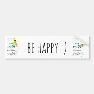 Happy Forecast Bumper Sticker
