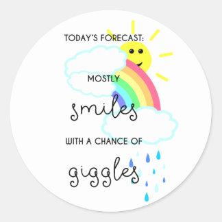 Happy Forecast Classic Round Sticker
