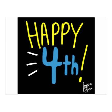 jasmineflynn Happy Fourth 2 Postcard