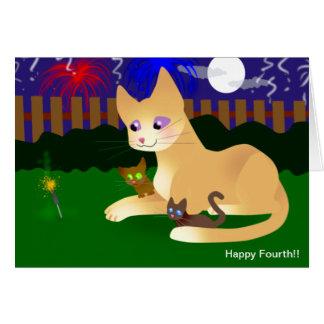 HAPPY FOURTH GREETING CARD