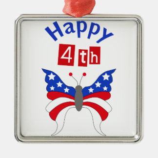 Happy Fourth Metal Ornament