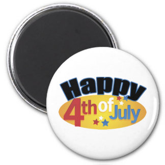 Happy Fourth Of July 2 Inch Round Magnet