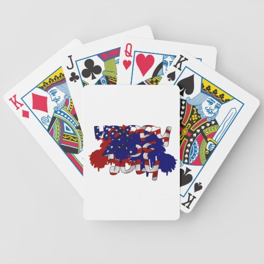 Happy Fourth of July Bicycle Playing Cards