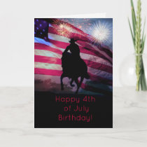 Happy Fourth of July Birthday Card