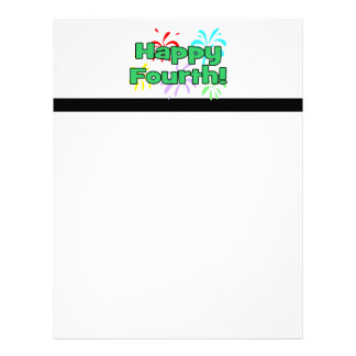 Happy Fourth Of July Fireworks Customized Letterhead