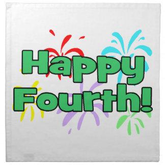 Happy Fourth Of July Fireworks Napkin