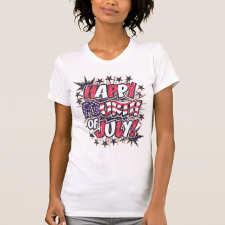 Happy Fourth of July Fitted Tank Top