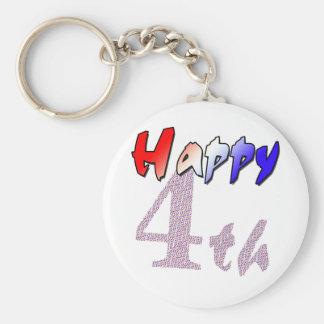 Happy fourth of July Keychain