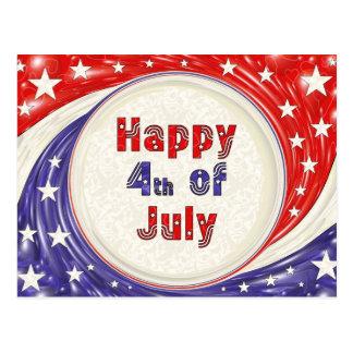 Happy Fourth of July Postcard