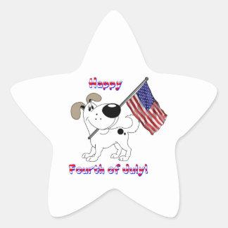 Happy Fourth of July! Star Sticker