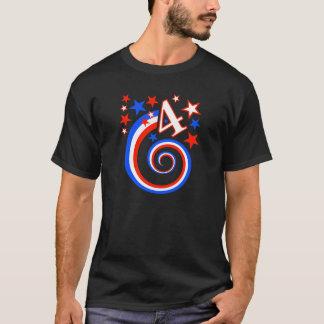 Happy Fourth of July Swirl T-Shirt