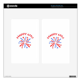 HAPPY FOURTH DECALS FOR KINDLE FIRE