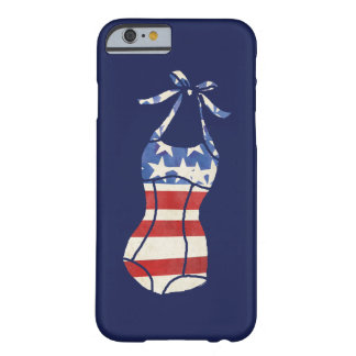 Happy Fourth Summer Stars & Stripes Retro Swimsuit Barely There iPhone 6 Case