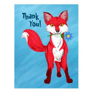 Happy Fox (Thank you!) Postcard