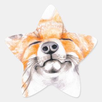 Happy Foxy Star Sticker