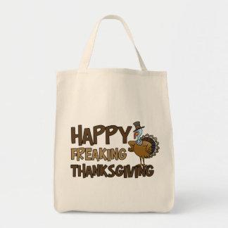 Happy Freaking Thanksgiving Tote Bag