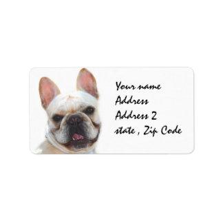 Happy French Bulldog dog Label