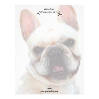 Happy French Bulldog dog Letterhead