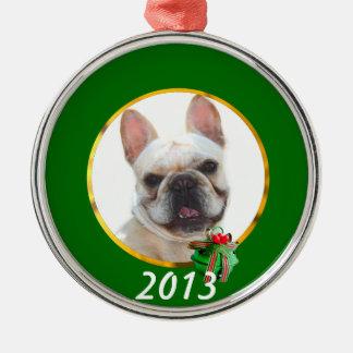 Happy French Bulldog dog Metal Ornament