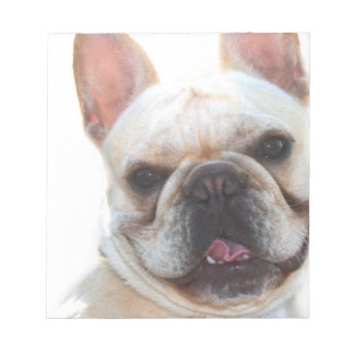 Happy French Bulldog dog Notepad