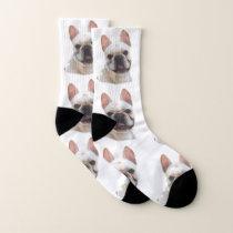 Happy French Bulldog dog socks