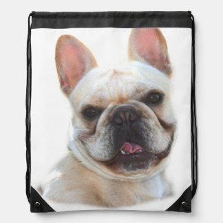 Happy French Bulldog Drawstring Bag