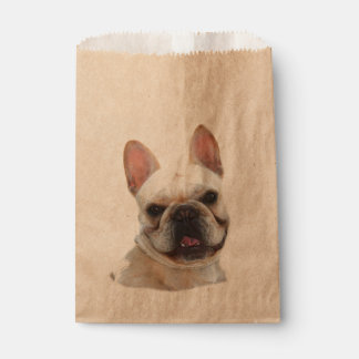 Happy French Bulldog Favor Bags