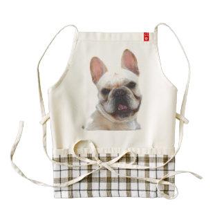 Happy French Bulldog Zazzle HEART Apron