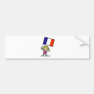 happy french children independence day bumper sticker