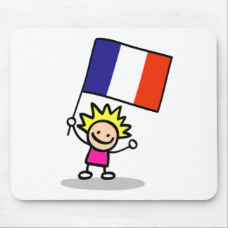 happy french children independence day mouse pad