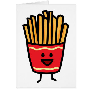 Happy French Fries Card