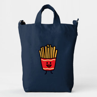 Happy French Fries Duck Canvas Bag