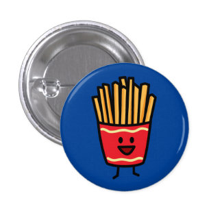 Happy French Fries Pinback Button