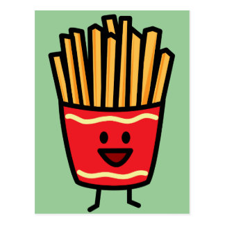 Happy French Fries Postcard