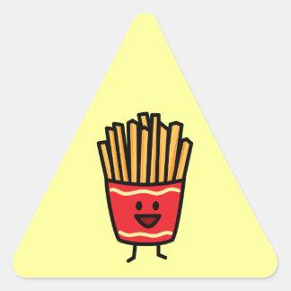 Happy French Fries Triangle Sticker