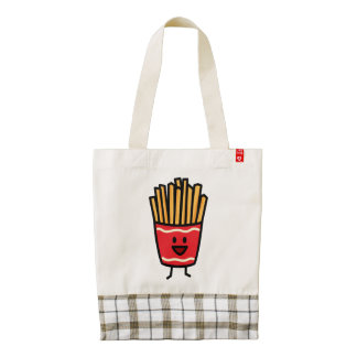 Happy French Fries Zazzle HEART Tote Bag