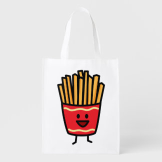 Happy French Fries Reusable Grocery Bags
