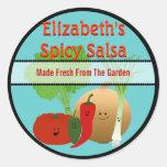 Happy Fresh Salsa Gift Tag Stickers