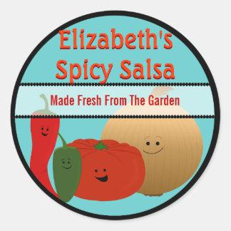 Happy Fresh Salsa Round Sticker
