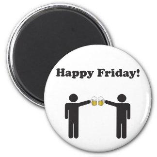 Happy Friday! 2 Inch Round Magnet