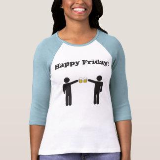 Happy Friday 3/4 Sleeve Baseball Tshirt