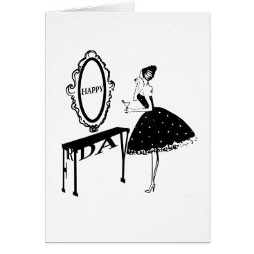 Professional Business Happy Friday Fashion Illustraton Card