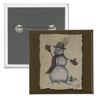 Happy Friendly Snowman Pins