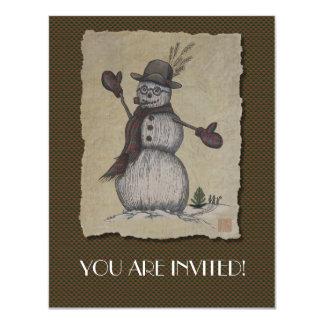 Happy Friendly Snowman Card