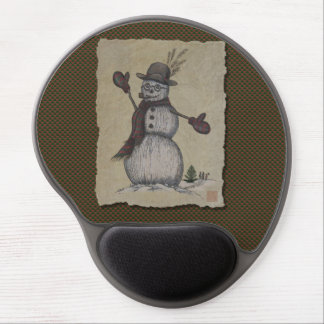 Happy Friendly Snowman Gel Mouse Pad