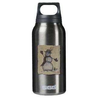 Happy Friendly Snowman Insulated Water Bottle