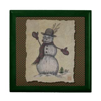 Happy Friendly Snowman Jewelry Boxes