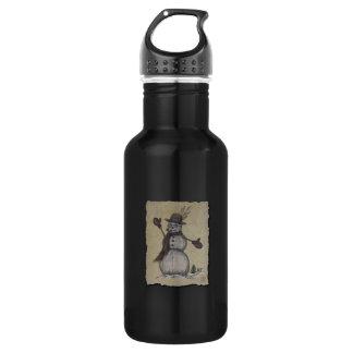 Happy Friendly Snowman Stainless Steel Water Bottle