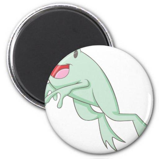 Happy Frog 2 Inch Round Magnet